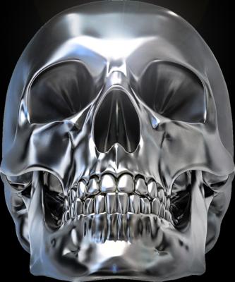 Chrome Skull Psd93901 Png 333 400 Skull Reference Skull Art Skull