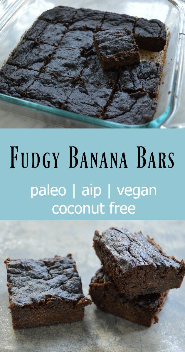 Fudgy Banana Bars Paleo Aip Vegan