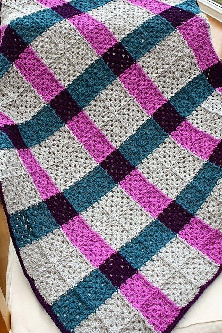 Easy & Free Granny Square Patterns | Square blanket, Granny squares ...