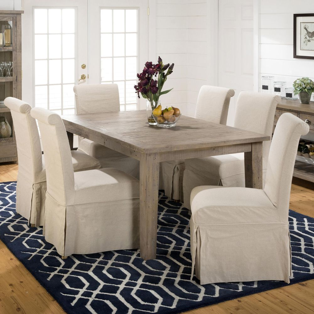 Jofran 941 72 Reclaimed Pine Leg Dining Table W/Extension Leaf