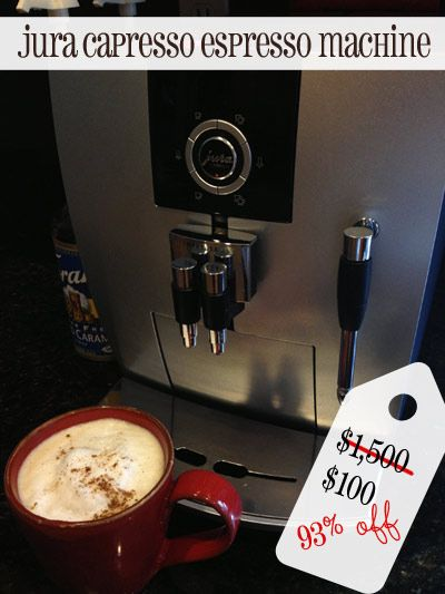 Jura-Capresso Espresso Machine $100, saved 93% off {Secondhand Sunday}