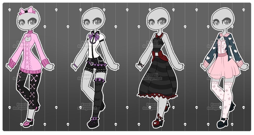 1 kitlerchan 4 risky gachapons closing in less than 2 hours gacha outfit adopts last day base created by zombutts these outfits belong to their