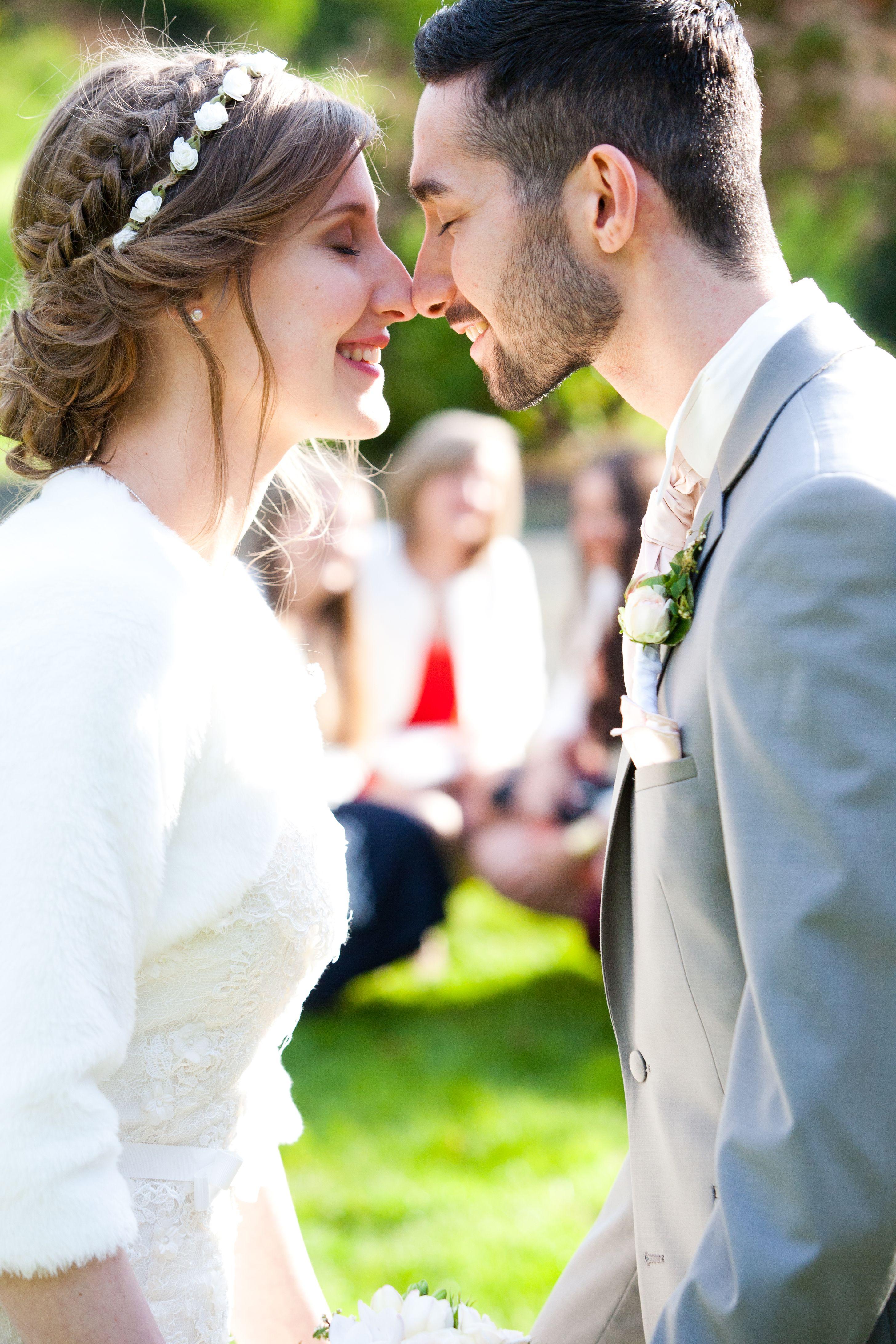 Coiffure de mariée Tresses, chignon bohème, headband