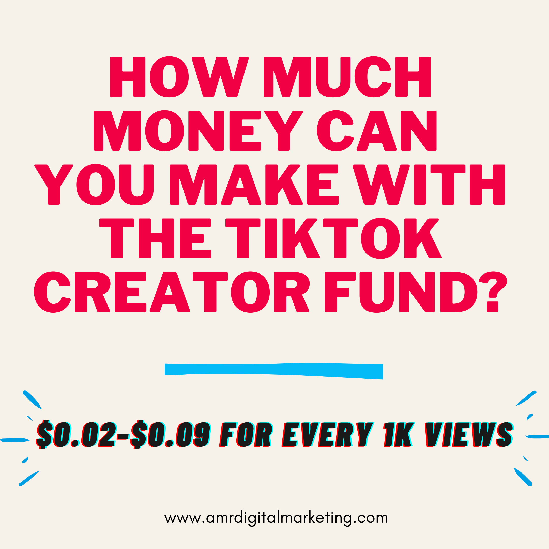 How Much Money Can You Really Make From The Tiktok Creator Fund How To Make The Creator Marketing Tips