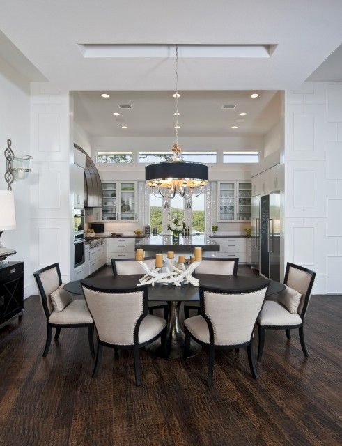 Sophisticated eating area