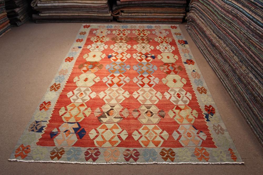 Area Rug Oriental Kilim Multicolor Red Gray Pink Blue Carpet Etsy Blue Carpet Oriental Rug Area Rugs