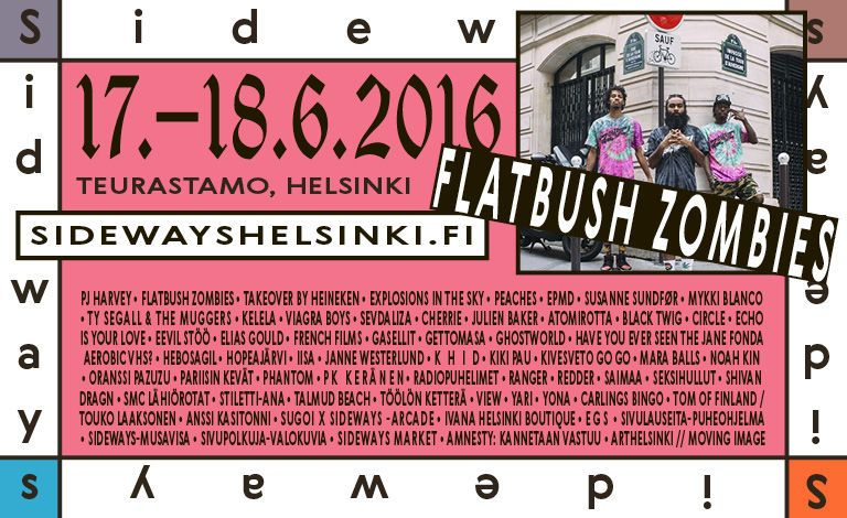 Sideways 2016 - Teurastamo, Helsinki - 17. - 18.6.2016 - Tiketti
