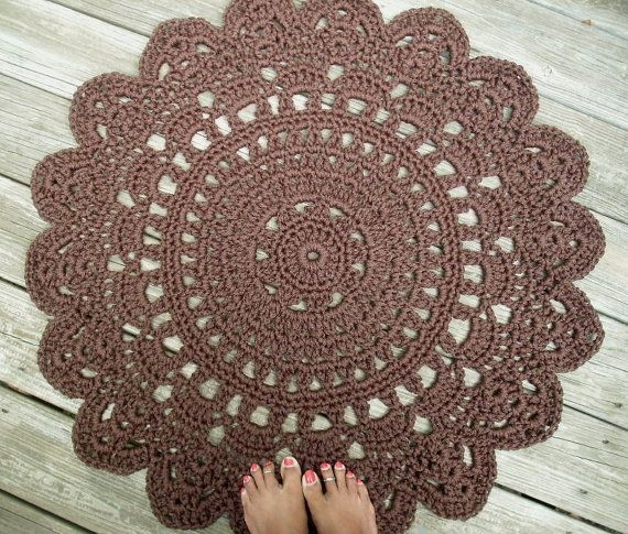 Cioccolato marrone Patio Portico cavo Crochet di byCamilleDesigns