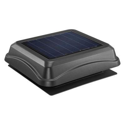 Broan Nutone 28 Watt Solar Powered Black Surface Mount Attic Vent 345sobk The Home Depot In 2020 Solar Attic Fan Broan Attic Vents
