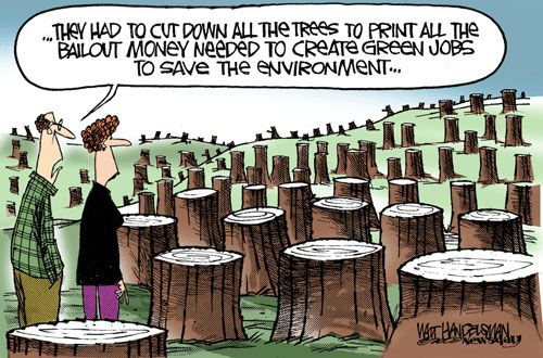 Image result for green economy cartoon