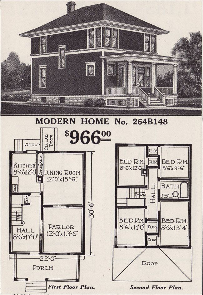 An American Foursquare Story Four Square Homes Square House Plans Vintage House Plans
