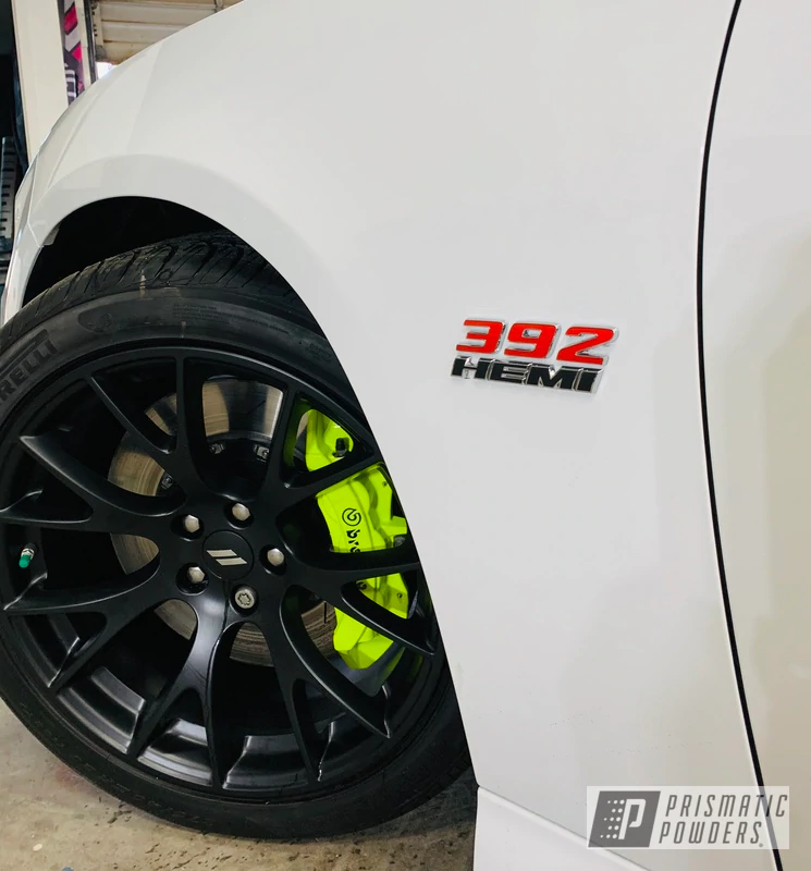 Powder Coated Neon Yellow 6 And 4 Piston Brembo Calipers In 2020