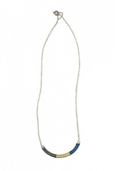 Alem Fall Turquoise Tube Necklace || Fair Trade Bead + Thread Necklet