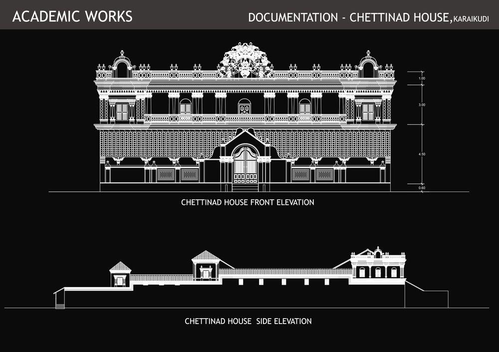 Documentation Chettinad House Muthiah Maradona Azhar R Chettinad House Temple Design For Home House Siding Simple chettinad house plan