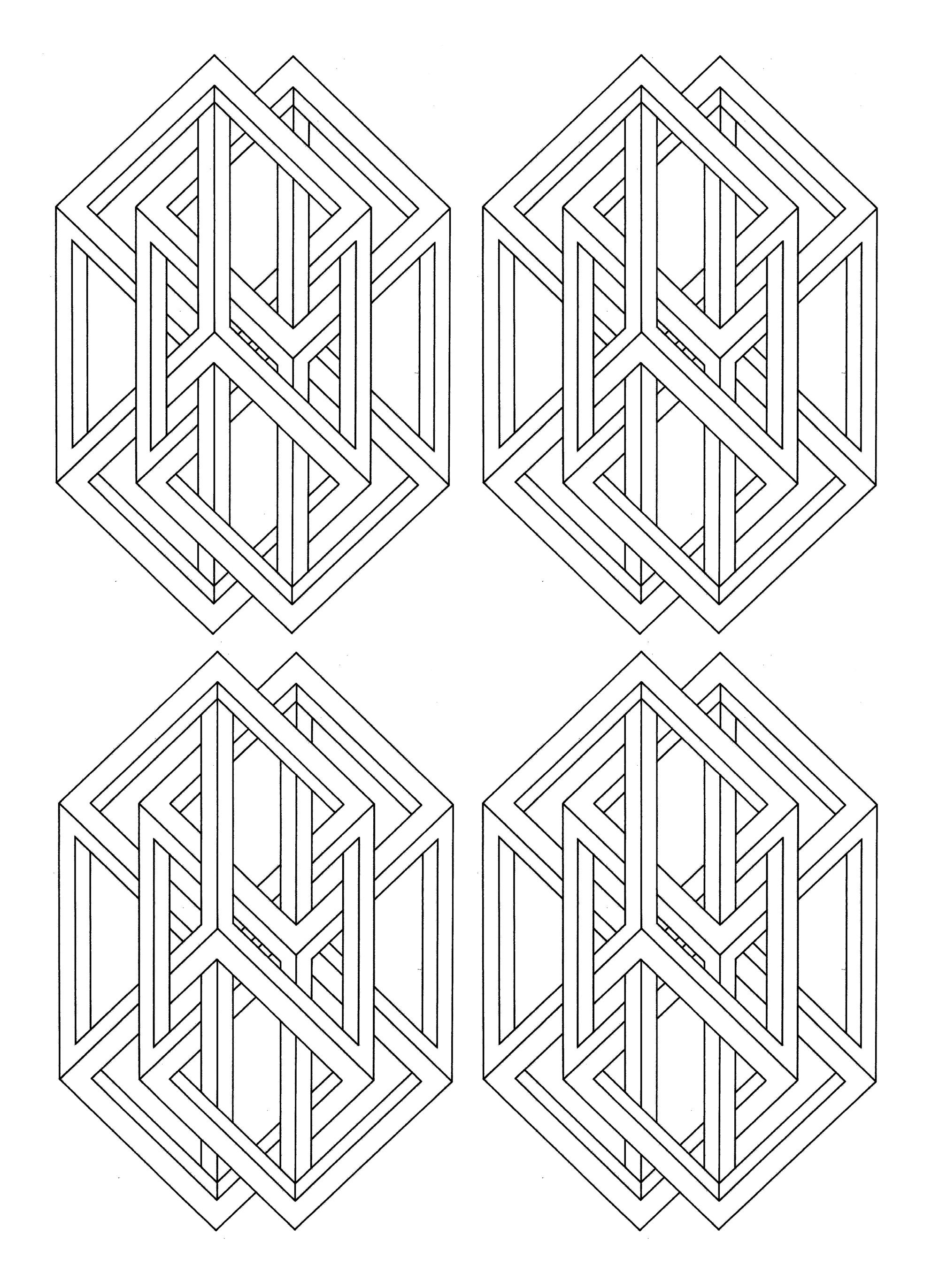 To print this free coloring page «coloring-op-art-jean ...