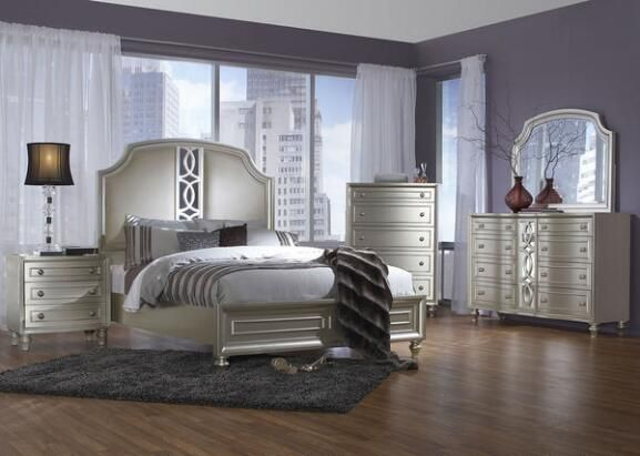 Platinum 7 Pc King Bedroom A Room of Beauty Pinterest Jewelry