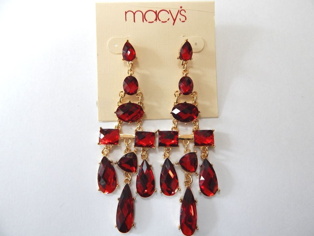 Macys red crystal chandelier earrings macys chandelier jewelry red macys red crystal chandelier earrings aloadofball Choice Image