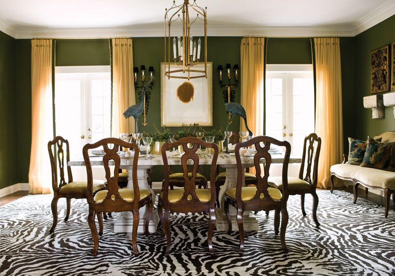 Suzy Q Better Decorating Blog Emerald Green Seasonal Colors Paint Walls Olive Décor Interior Design Home E Dining