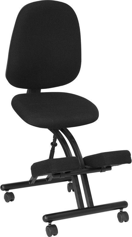 Best Mobile Ergonomic Kneeling Posture Chair In Black Fabric 400 x 300