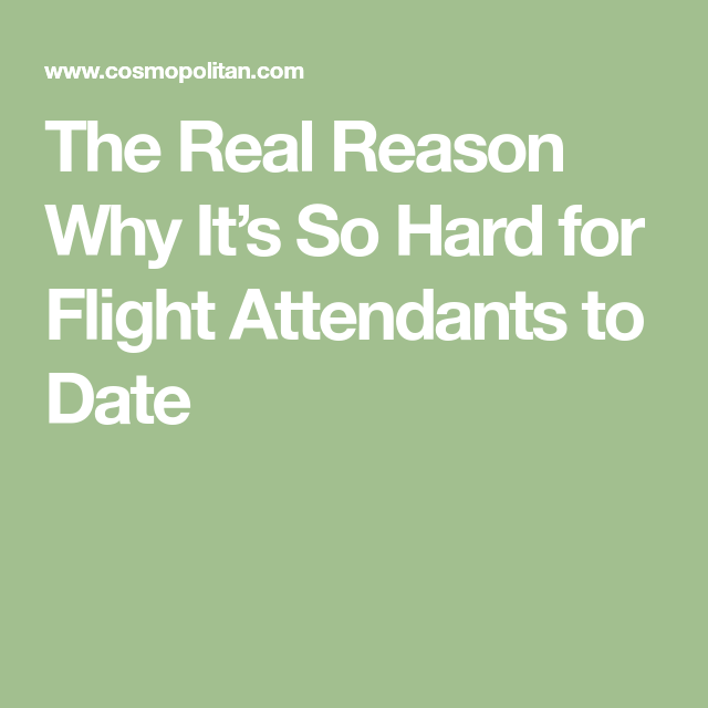 How to date a flight attendant