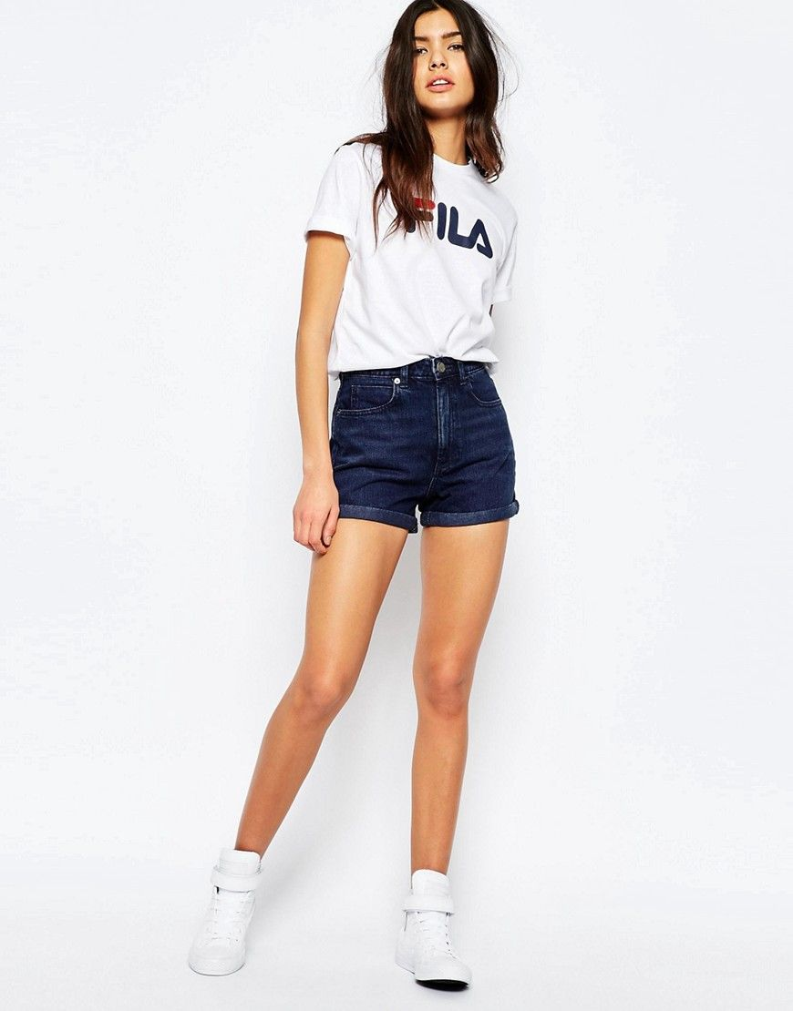 Fila Oversized Boyfriend T Shirt With Front Logo | Mode