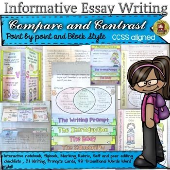 Informational informative essay writing compare and contrast ccss - informative essay