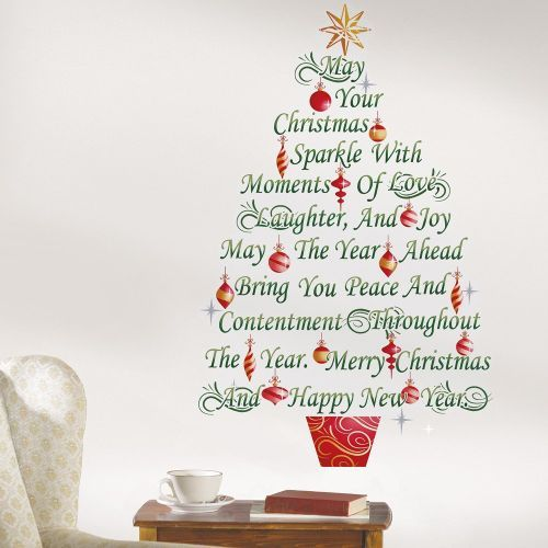 Christmas Sparkle Message Festive Tree Wall Decal