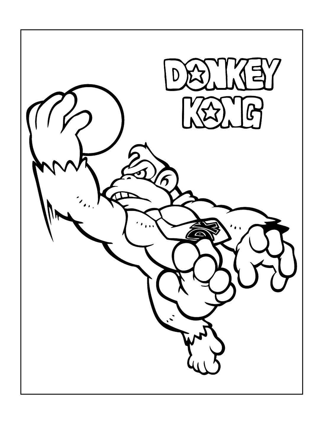Pin By Coloring Rocks On Video Game Coloring Pages Coloring Pages Donkey Kong Color