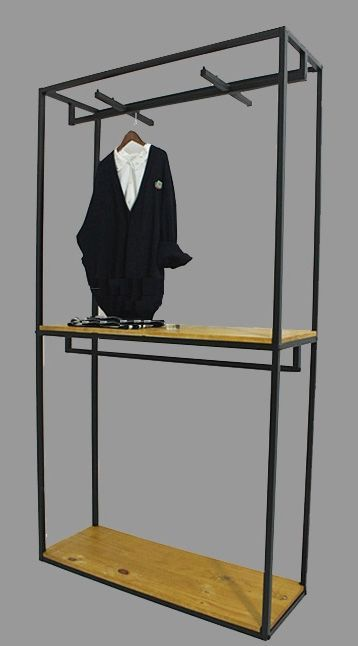 custom metal wall shelf for clothing store garments metal on walls coveralls website id=60954
