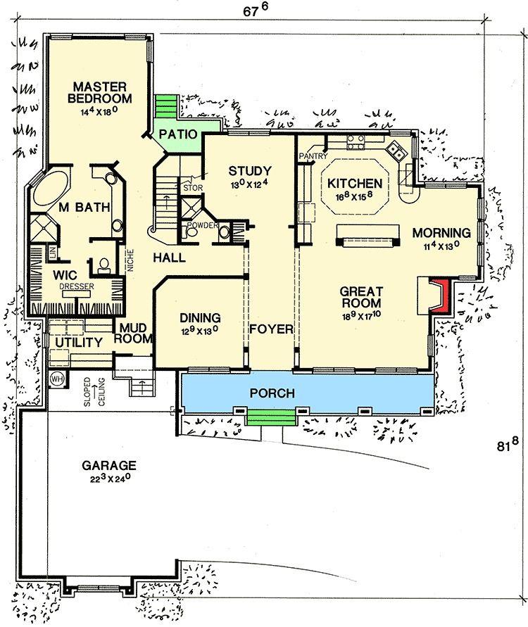 Plan 31161d Second Floor Balcony House Floor Plans House Plans House Layout Plans