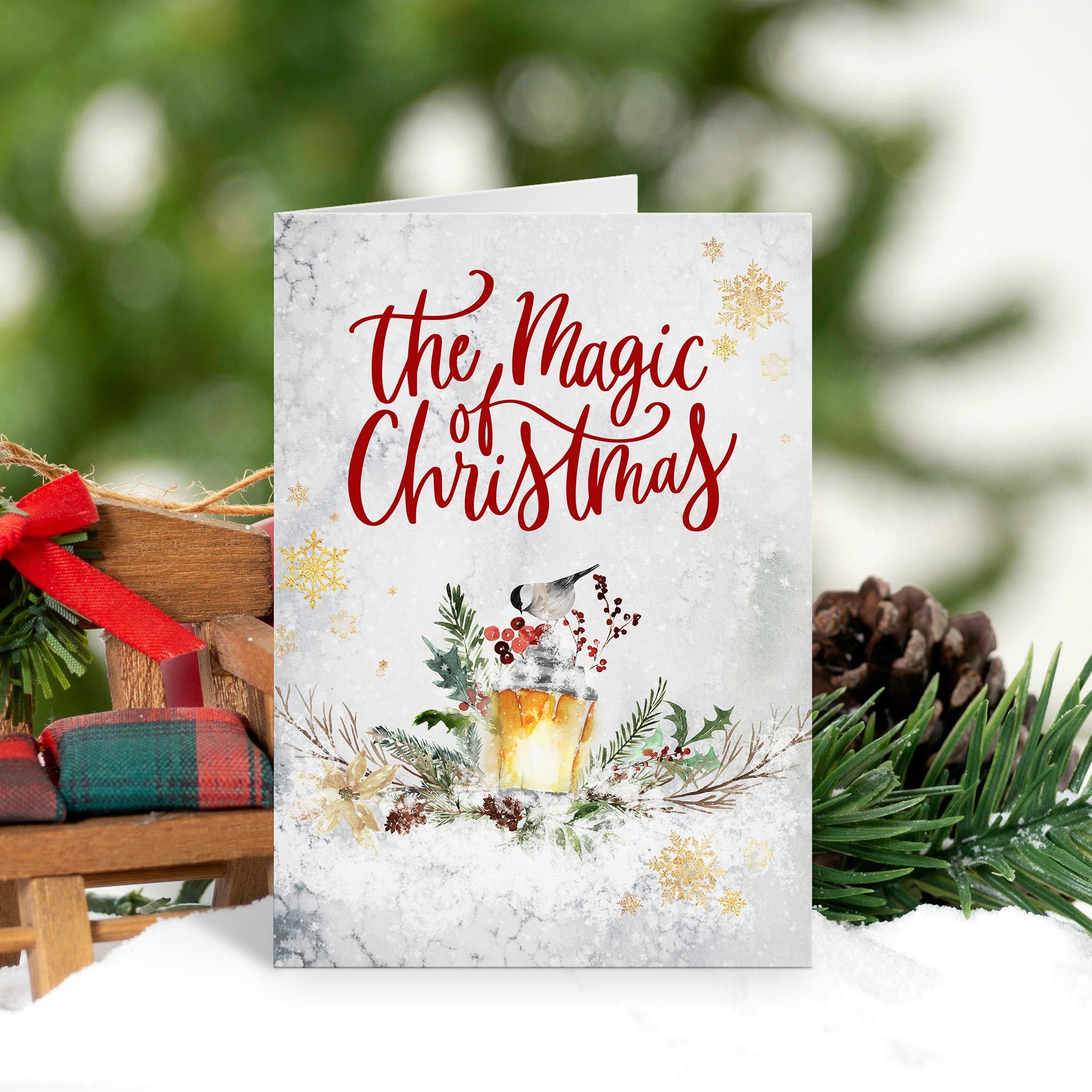 The Magic Of Christmas Holiday Card Zazzle Com Christmas Holiday Cards Christmas Holiday Greetings Christmas Greetings