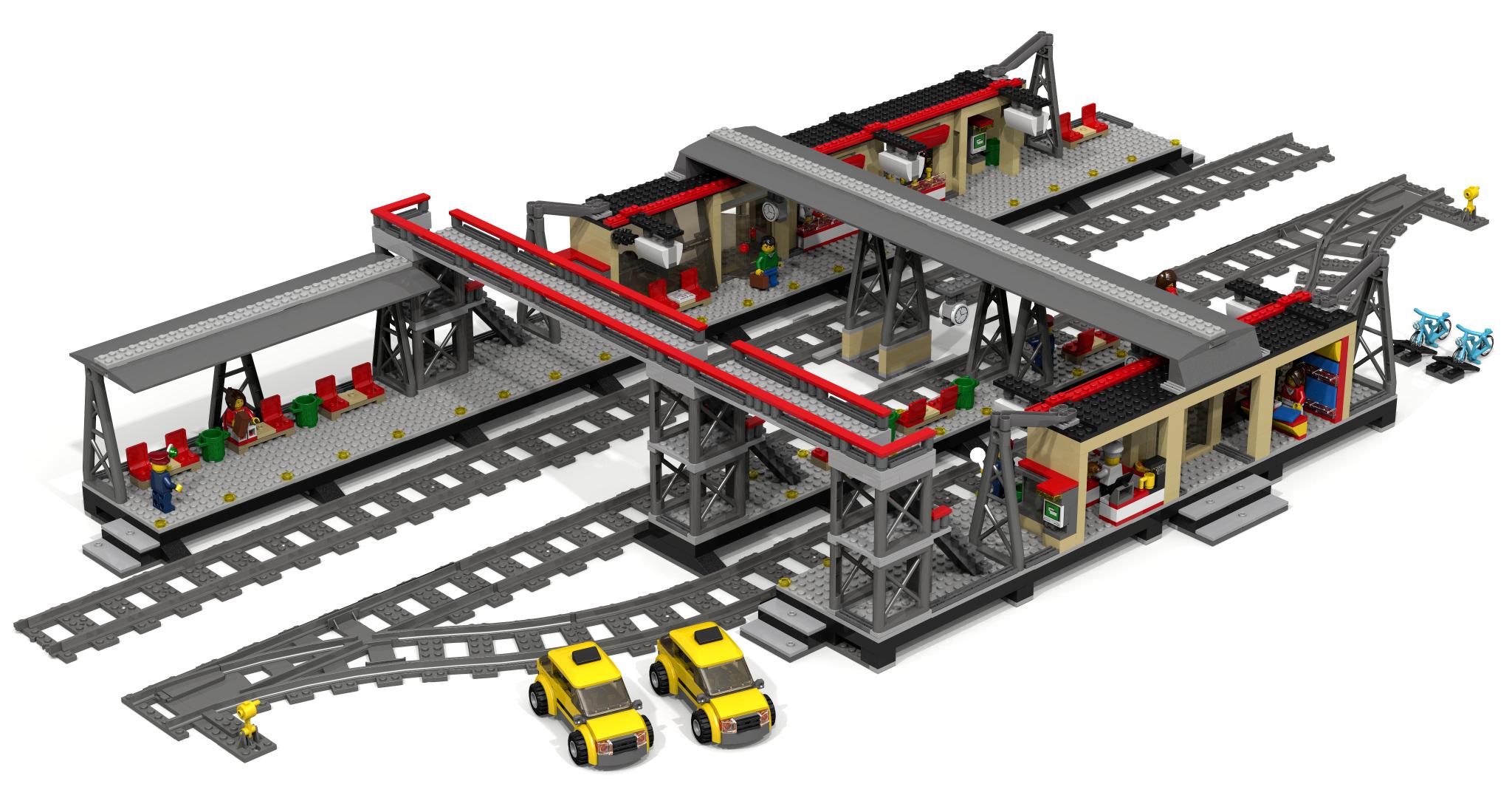 Lego Moc Train Station Instructions
