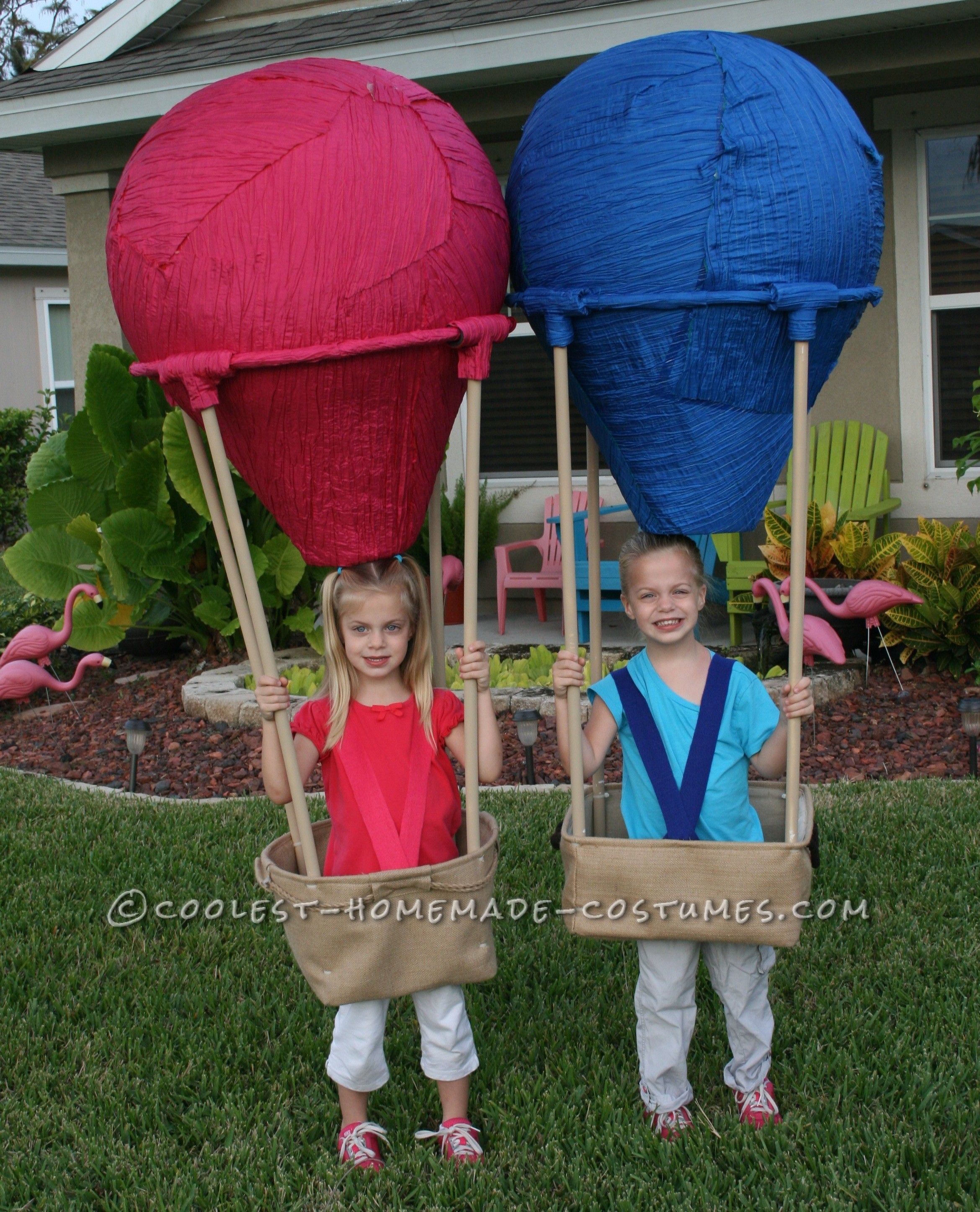 Homemade Twin Hot Air Balloons Costumes With Images Twin