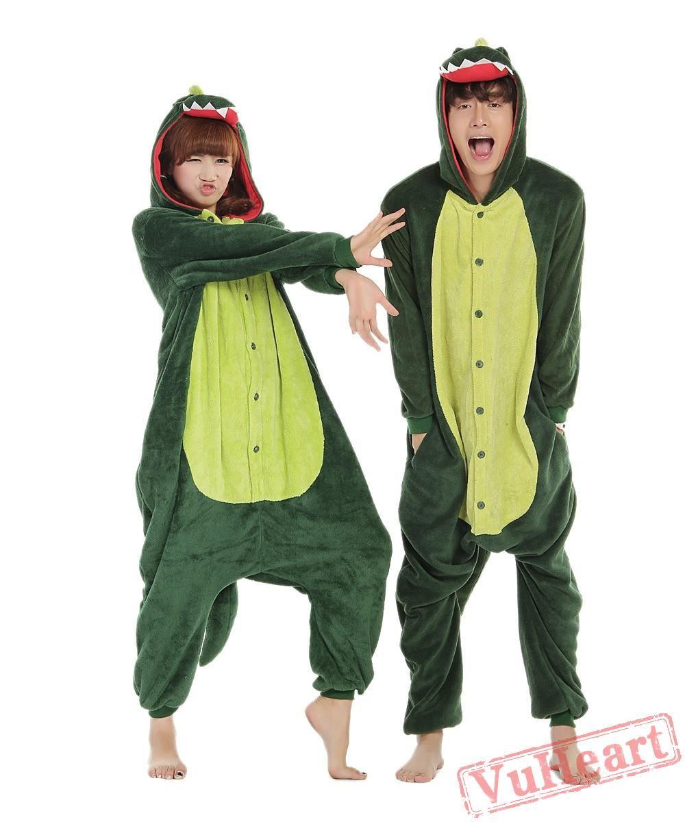 276e6fe2f Green Dinosaur Monster Kigurumi Onesies Pajamas Costumes for Women ...