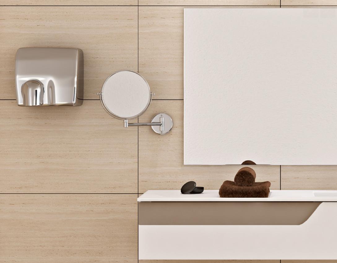 Espejo de aumento y #secador de manos de la colección #Complementos ...