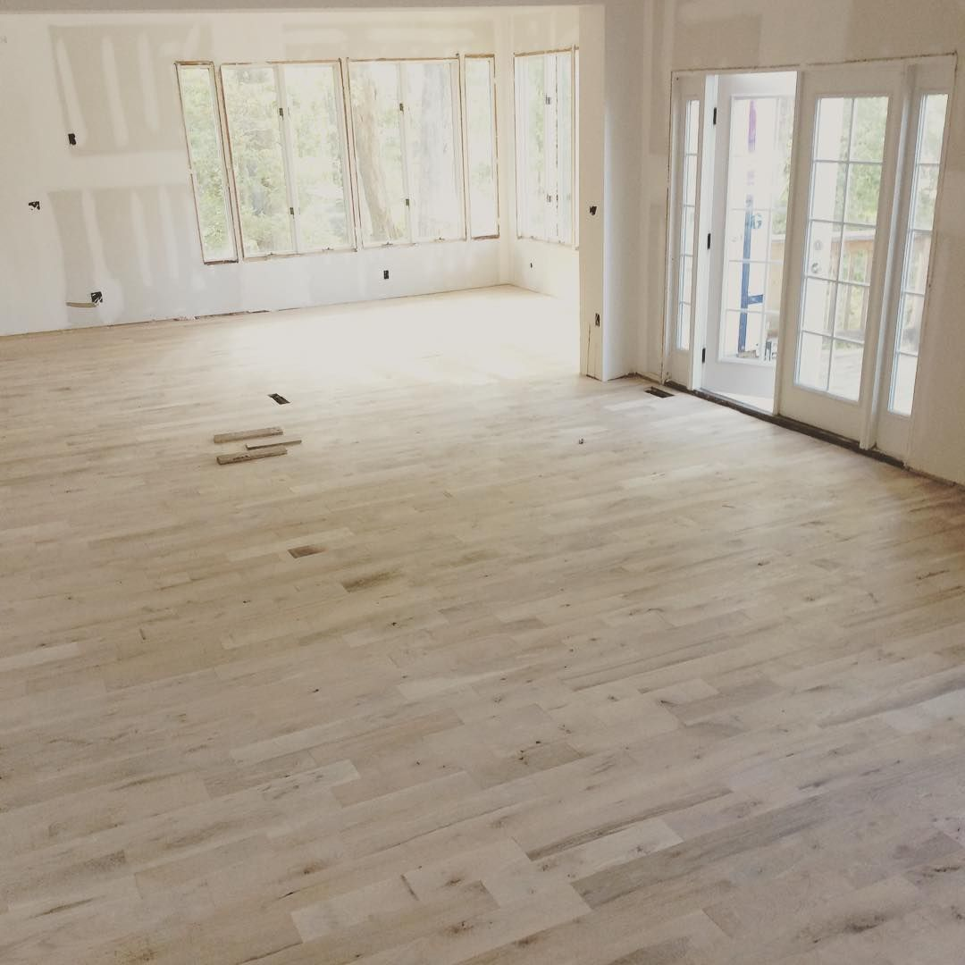 Hardwood floors have arrived. To be finished in Rubio monocoat ...