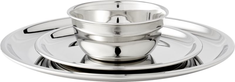 stainless steel appetizer plate