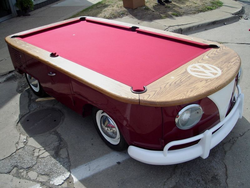 Option 1 for a pool table. Reminds me of the good old days in my dad's VW!