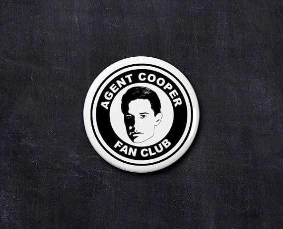 agent cooper fan club button by yourfanclub on Etsy