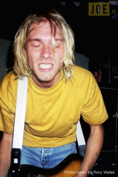 Nirvana, August 20,1991 Sir Henrys - Cork, Ireland. Photo: Rory Wales
