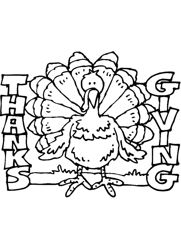 fun thanksgiving coloring pages - photo#27