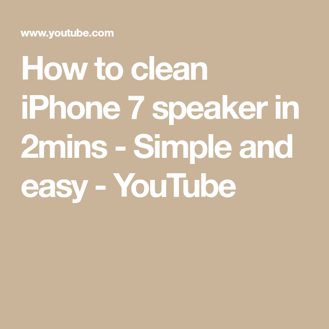 How to clean iPhone 7 speaker in 2mins Simple and easy