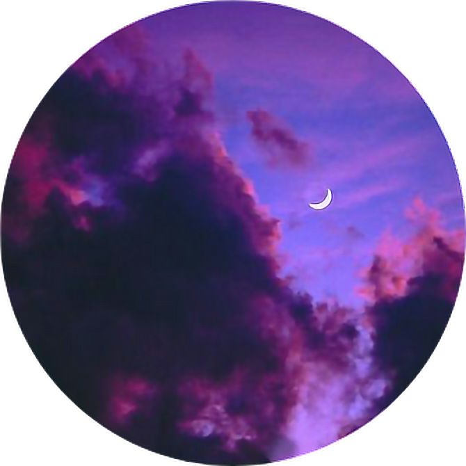 Tumblr Aesthetic Pastel Space Stars Moon Png Aesthetic Dark Clouds With Moon 670x670 Png Download Cute Profile Pictures Pastel Aesthetic Instagram Cartoon