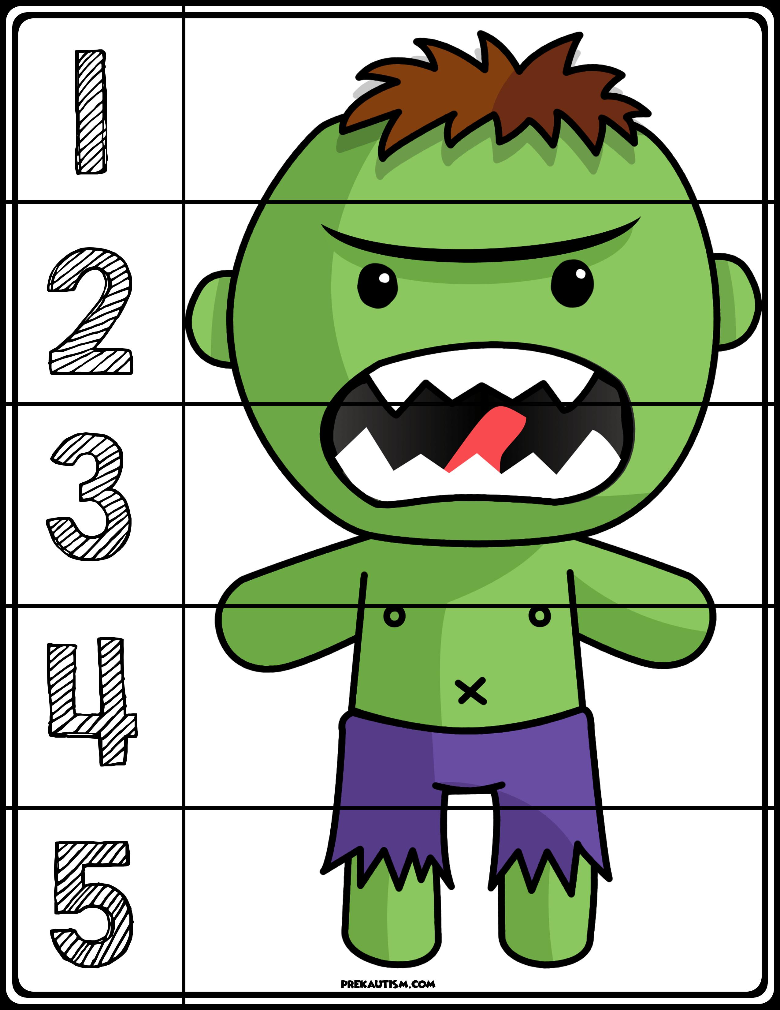Predownload: Free Superhero Number Puzzles Number Puzzles Super Hero Activities Superhero Preschool [ 3300 x 2550 Pixel ]