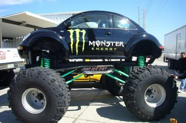 Vw Beetle Monster Bug With Images Cute Cars Big Boy