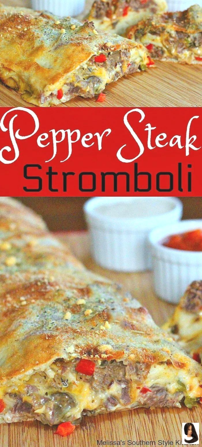 Pepper Steak Stromboli Dinner Recipes steak Pepper Steak Stromboli         Pepper Steak Stromboli