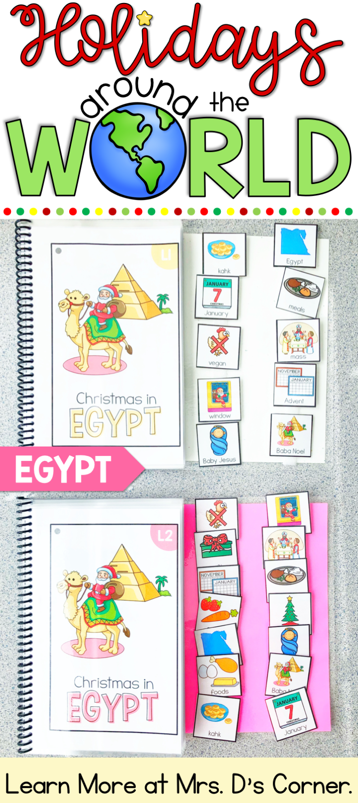Holidays Around The World Christmas In Egypt Adapted Book Christmas In Egypt Adapted Books Christmas Classroom [ 1615 x 720 Pixel ]