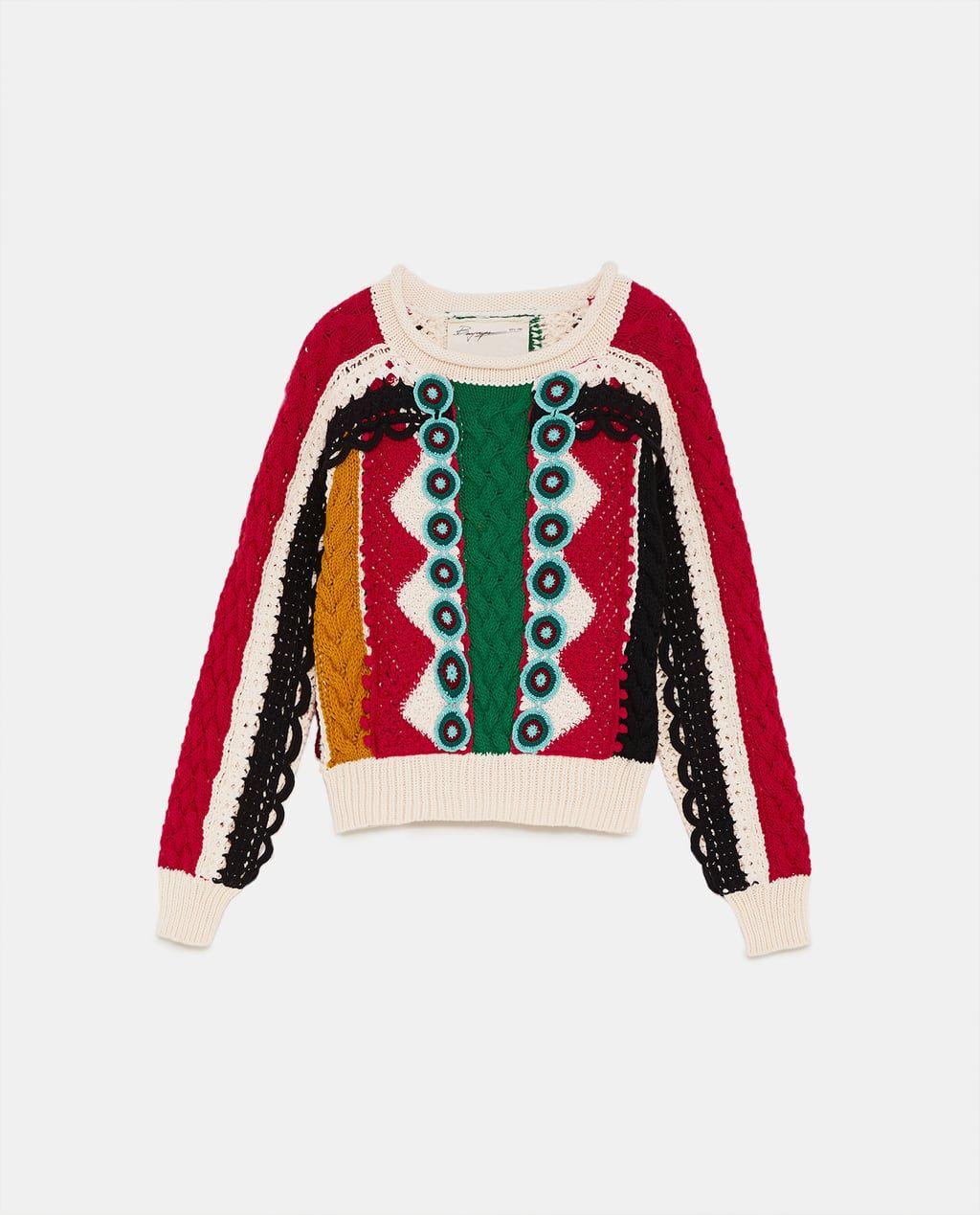 6ed56537 Limited edition zara studio fringed two-tone sweater | shopping ...