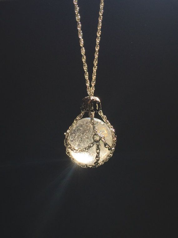 Chain cloaked crystal ball pendant necklace lauren pinterest chain cloaked crystal ball pendant necklace aloadofball Images