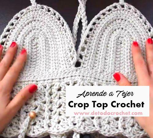 Cómo tejer crop top crochet | Costureras del mal paso | Pinterest ...